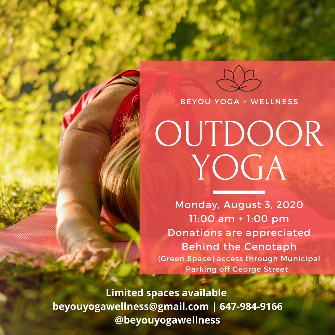 Outdoor Yoga by BeYou Yoga + Wellness